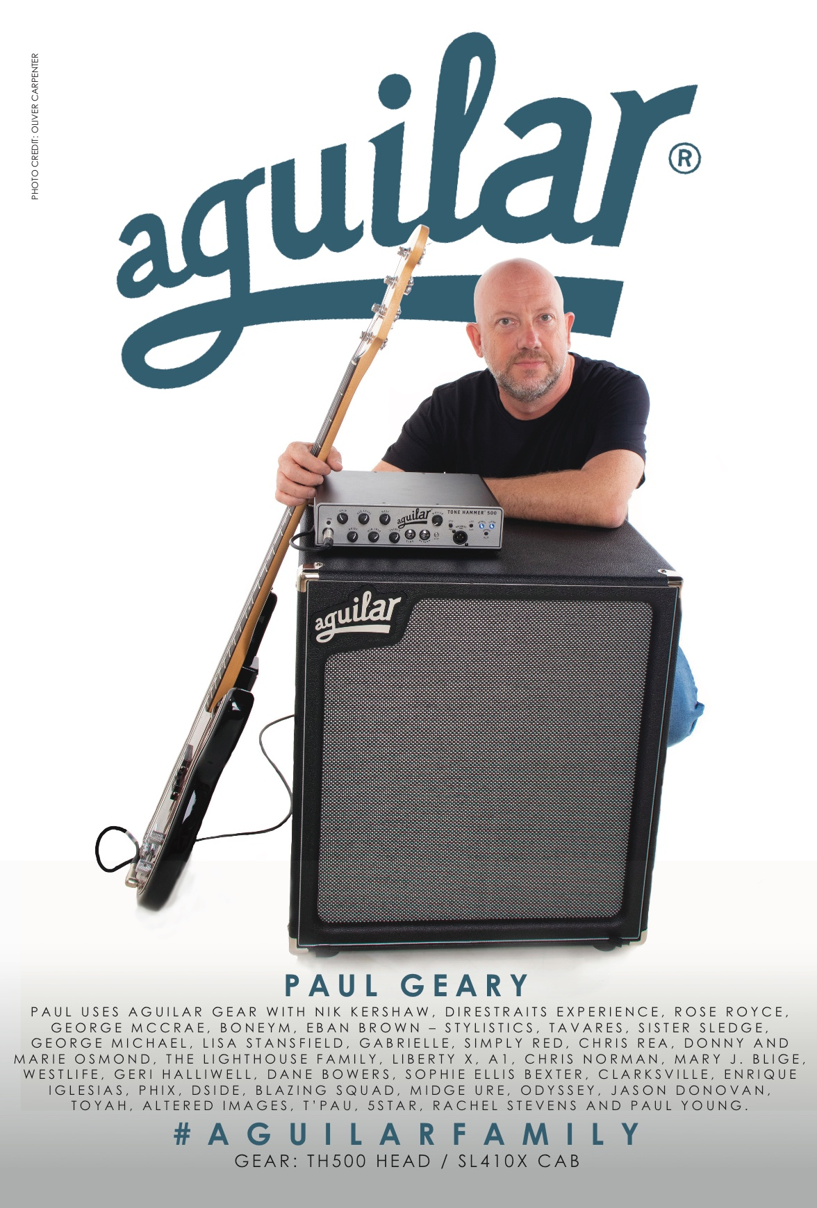 Paul uses Aguilar Gear!